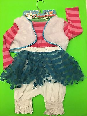 NWT LALALOOPSY HALLOWEEN COSTUME MITTENS FLUFF N STUFF  DRESS GIRLS 4-6X VEST ](Lalaloopsy Mittens Costume)