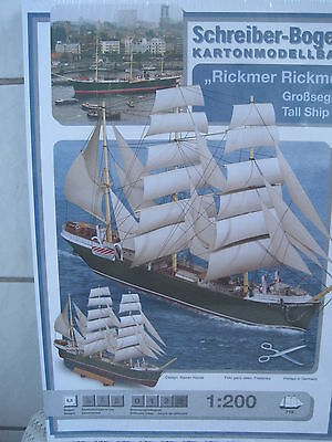 Rickmer Rickmers Segelboot  Schiff Kartonbausatz *NEU* Schreiber- Bastelbogen