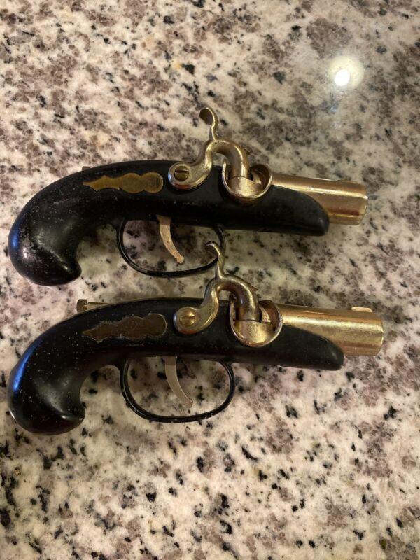 Old Flintlock Percussion Cap Pistol Gun Cigarette Lighter Japan Japanese Vintage