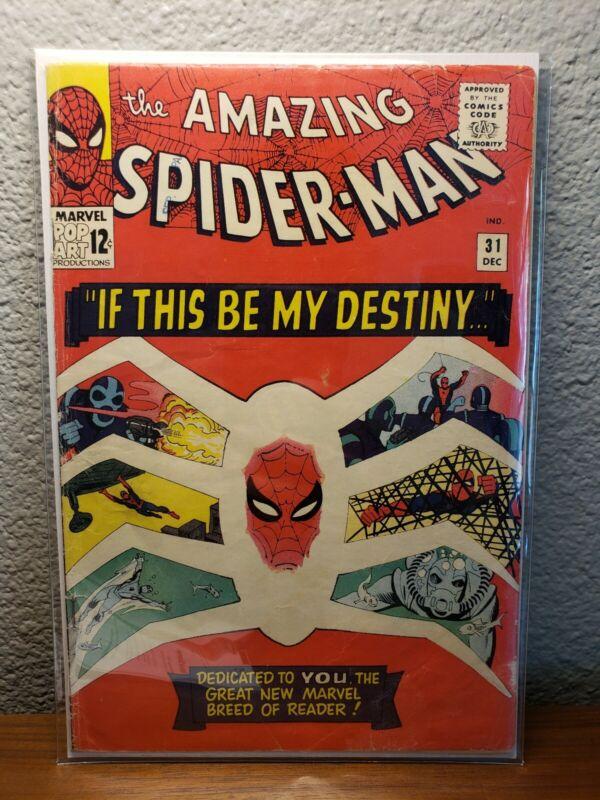 The Amazing Spider-Man #31 (1965) 1st App. of  Gwen Stacy - 1st Harry Osborn