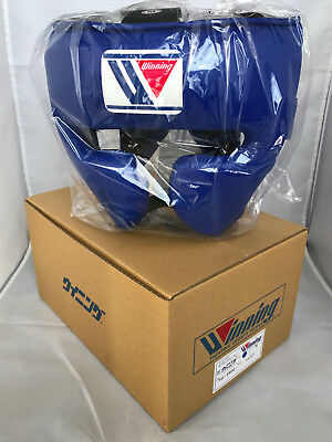 WINNING Boxing Head Gear FG-2900 Training Blue Medium Size Made in Japan NEW