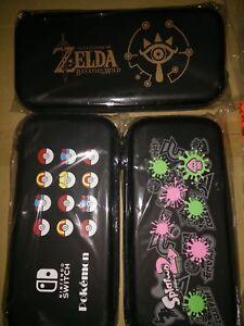 nintendo switch cases - zelda pokemon splatoon - new