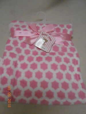 New Honey Baby pretty pink & white gift set plush BABY blanket for Easter Basket for sale  Shipping to India