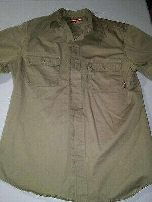 Craftsman Tan Work Shirt Medium Short Sleeve Uniform Free Shipping! Tan Uniform Shirt