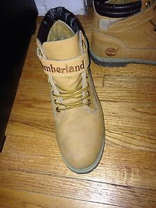 Size 12 Timberlands with strap