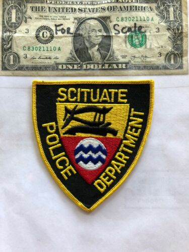 Scituate Rhode Island Police Patch Un-sewn great shape
