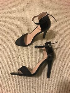 MOVING SALE: Black Strappy Stiletto Heels Size 8