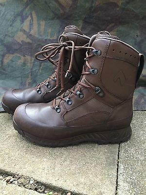 Original British Army Brown leather Haix combat boots - UK 9