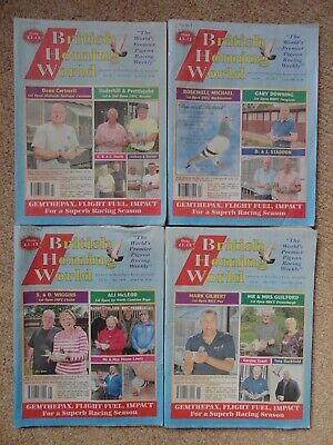 4x British Homing World racing pigeon birds magazines back issue June 2019