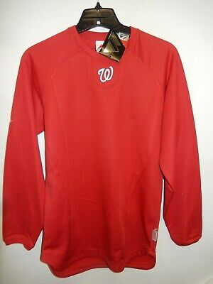 91024 Majestic MENS WASHINGTON NATIONALS Therma Base On Field Pullover -