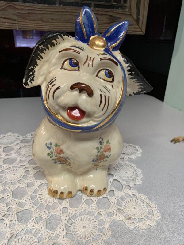 Shawnee Vintage 1947  Gold Trim Muggsy Cookie Jar