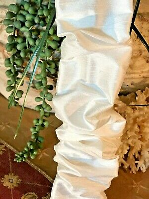 REMOVABLE Chandelier Chain Cord Cover~HOOK n LOOP~White Silk 3/6/9 FT