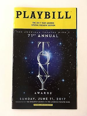 2017 71st Tony Awards Special 'Preview' Playbill Broadway -Sunday, June 11, 2017