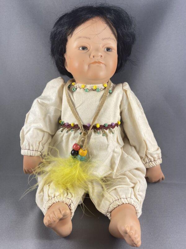 2002 Kelly RuBert Porcelain Joyful YoungNative American Indian Doll