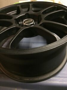 "Brand New 16"" MSR Flat Black Rims 5x100"