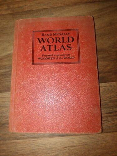 "RARE 1937 ""Woodmen of the World"" Rand McNally World Atlas  *Worldwide Shipping*"