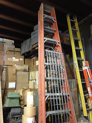 Heavy Duty Orange Tall Ladder Warehouse Construction Carpentry R