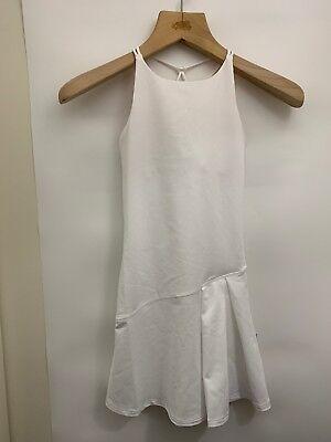 Ivivva Set Your Mind Dress Sizes 6 7 10 12 14 White Tennis Built In Bra Girls