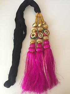 Bridal Paranda Punjab Parandi bollywood Style Hair Accessory Braid Tassles UK