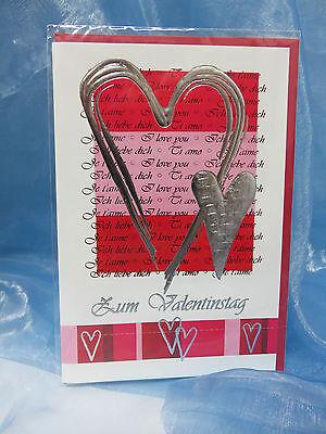 Glückwunschkarte - Zum Valentinstag 18-1054 ** gebraucht kaufen  Kleinostheim