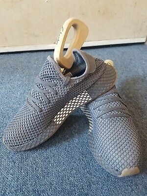 Original Adidas Deerupt Grey/White Size UK 10 Trainers New With Box