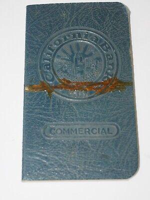 1939 California Bank Commercial Bank Account Book