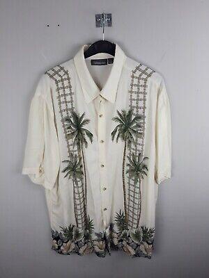 Vintage Auth Croft & Barrow Hawaiian Shirt Size Large