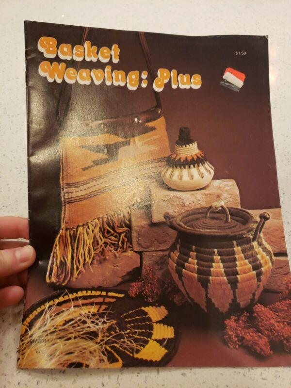 Basket Weaving Plus Vintage Instruction Pattern Book Booklet 1977