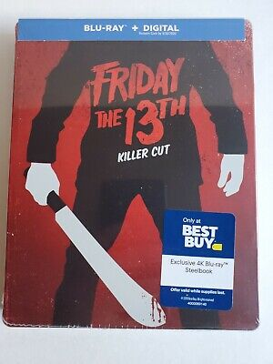 Halloween 2019 Friday 13 (FRIDAY THE 13TH KILLER CUT STEELBOOK (Blu-Ray + Digital Copy) Sealed &)