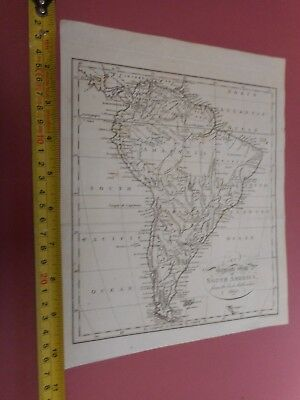 100% ORIGINAL SOUTH AMEREICA  MAP BY S NEELE  C1803 FALKLANDS PERU