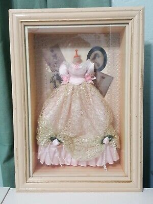 - Arister Gifts Shadow Box Wood Frame Victorian fashion dressing room pink dress