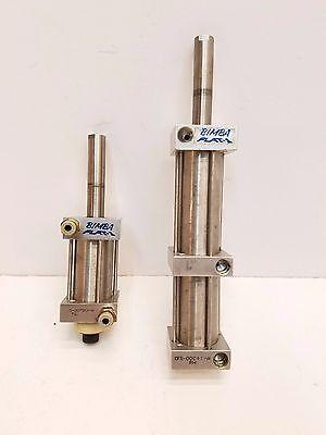 Lot Of 2 Bimba Flat-1 Airpneumatic Cylinder Cfs-00841 Fs-00790-a Free Shipping