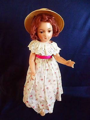 """AWESOME!!! Vintage BIG 22"""" Debuteen Composition Doll with Cloth Body."""