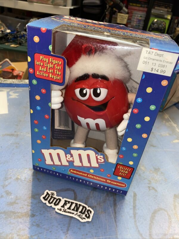 M&M's Red animated Christmas ornament