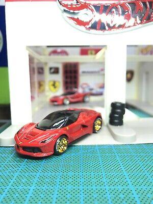 Hot Wheels Custom Ferrari LaFerrari With Real Riders Red HW City 2014