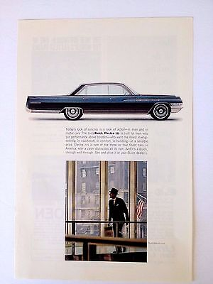 1963 Buick Electra 225 4 Door Original Print Ad GM Automobile