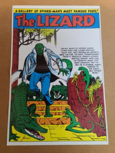The Lizard Pinup Amazing Spider-Man Annual Marvel Comics Poster by Steve Ditko