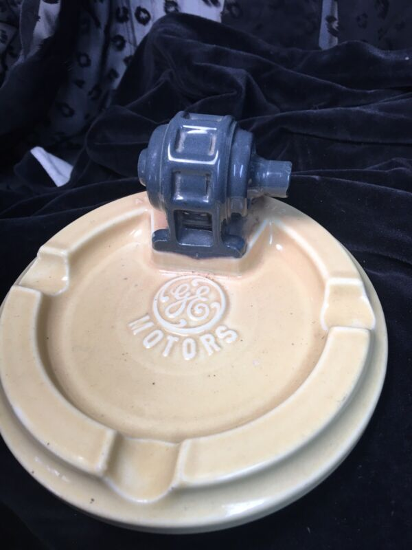 """Vintage Ashtray Cigarette 6"""" Collectible General Electric Motor Advertisement"""