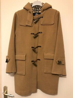 Manteau duffle coat burberry camel tartan