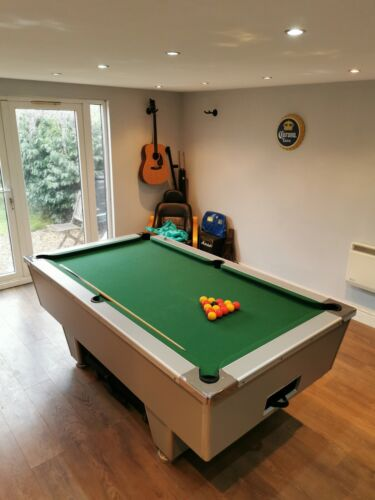 Superleague pool table cushions 7 ft in green speed cloth and used bed cloth