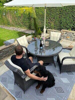 Patio Garden Mat - Recyclyed Plastic Mat for Patio, Garden, Home, Grey...