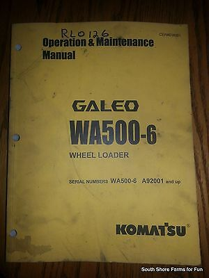 KOMATSU WA500-6 OPERATORS MANUAL ASN CEAM018001