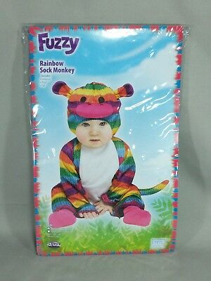 Fun World Kids Rainbow Sock Monkey Toddler Costume Small - Sock Monkey Toddler Costume