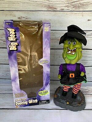 """Gemmy Halloween Dancing Witch 17"""" Tall Animated Musical Sings """"I Want Candy"""""""