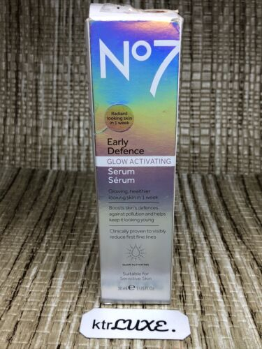 No7 Laboratories Early Defence Defense Glow Activating Serum 1oz - $9.99