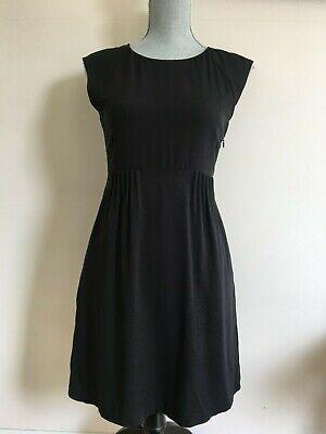 THEORY Black Silk Stretch Sleeveless Dress sz.4