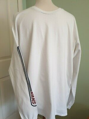 Vans Men's Top. White,  Long Sleeve.  Size XL.