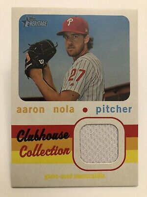 Aaron Nola Jersey Relic 2020 Topps Heritage Baseball Clubhouse Collection