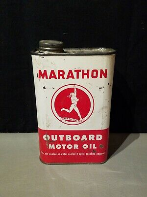 MARATHON OUTBOARD MOTOR OIL QUART CAN FULL