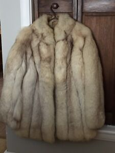 Genuine Saga Fox fur coat.